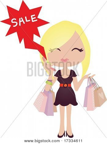 Happy Shopping with Attractive Girls poster