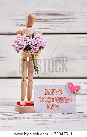 Manikin and bunch. Mother's day gift ideas.