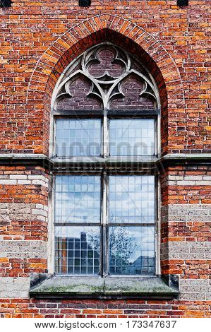 Lancet Window of Dutch Church in the Gothic Style