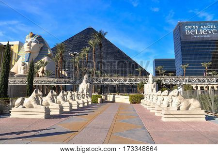The Sphinx And The Luxor In Bright Day