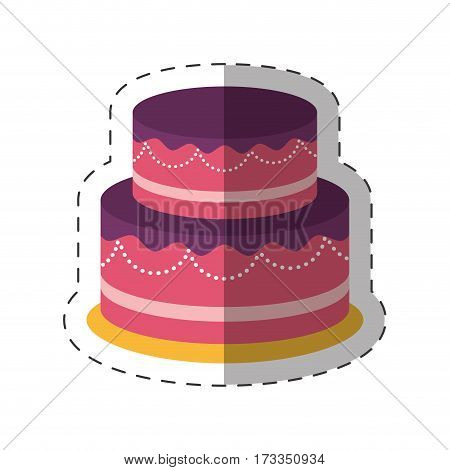 cake dessert party shadow vector illustration eps 10