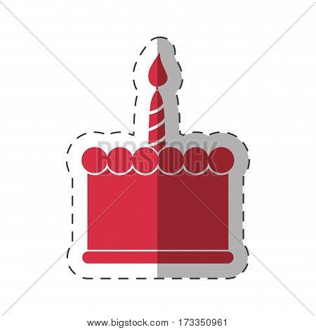 red birthday cake sweet vector illustration eps 10