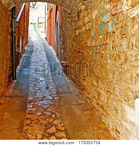 Vault over a Narrow Street in the Italian City of Todi
