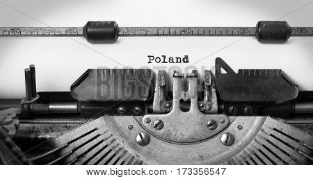 Old Typewriter - Poland