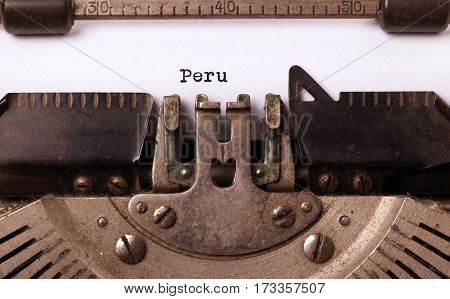 Old Typewriter - Peru