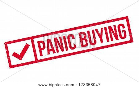 Panic Buying rubber stamp. Grunge design with dust scratches. Effects can be easily removed for a clean, crisp look. Color is easily changed.