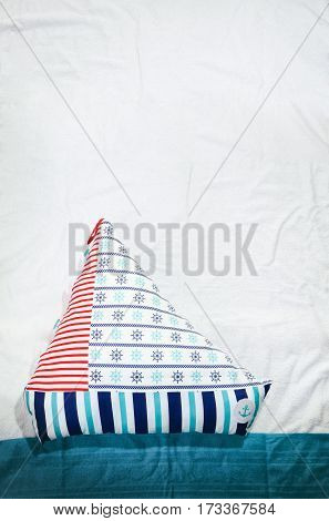 personally tailored toy boat/ship pillow blog photo