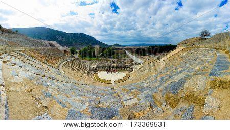 The Amphitheatre of Ephesus Ancient City Selcuk