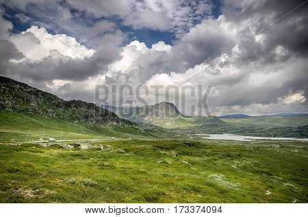 Mountain Nature Landscape In Morway Summer