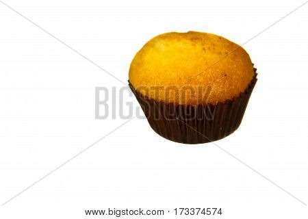 Muffin cake isolated on the white background
