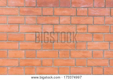 The photo depicts the red brick background