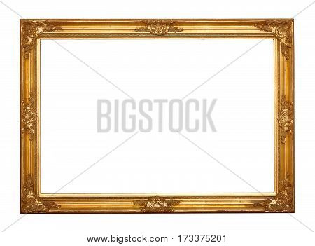 Ornamented very old gold plated empty picture frame for putting your pictures in