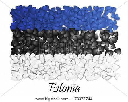 Love Estonia Tallinn. Flag Heart Glossy Mosaic. With Love From Estonia. Made In Estonia. Estonia Nat