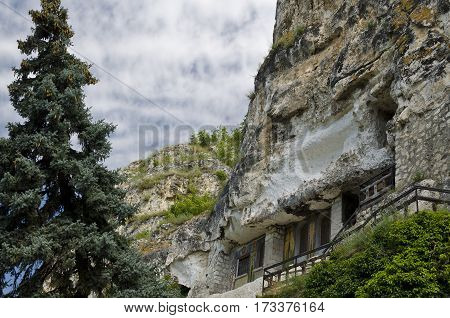 The rock monastery St Dimitrii of Basarbovo