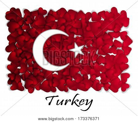Love Turkey. Flag Heart Glossy. With love from Turkey. Made in Turkey. Turkey national independence day. Sport team flag. Ankara tourism