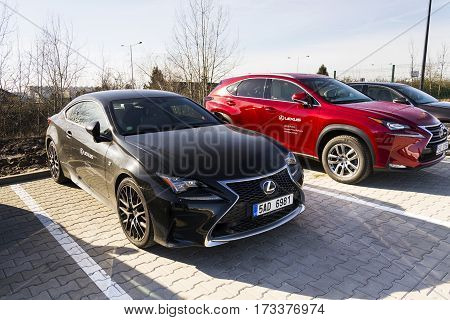 Prague, Czech Republic - February 25: Lexus Cars In Front Of Dealership Building On February 25, 201