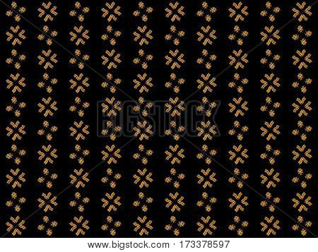 Texture With Rendering Abstract Fractal Yellow Pattern
