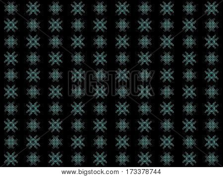 Texture With Rendering Abstract Fractal Green Pattern