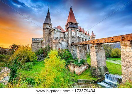 Corvin's Castle - Hunyad Castle in Hunedoara Romania.