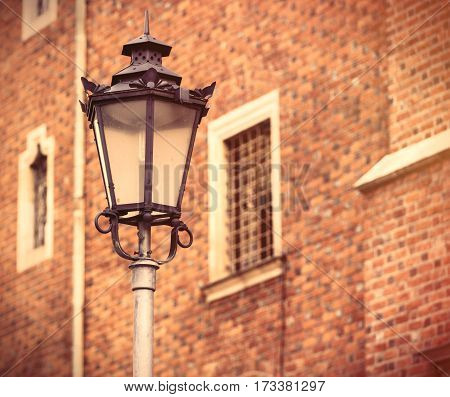 Photo Of Beautiful Lamp Post And Vintage Old Windows In Wroclaw, Poland