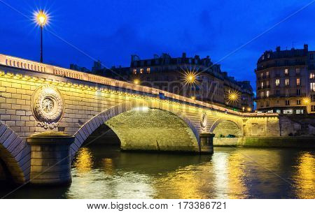 The pont Louis Philippe is a bridge across the river Seine. It is located in 4th arrondissement it links the quai de Bourbon on the Ile Saint Louis with the Saint Gervais on the right bank.