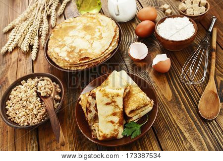 Crepes Stuffed With Meat