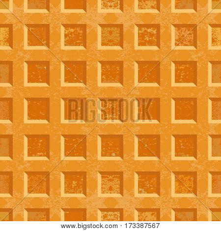 Crispy Belgian waffles Seamless texture. Vector illustration.