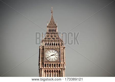 iconic Big Ben and Houses of Parliament, London, UK