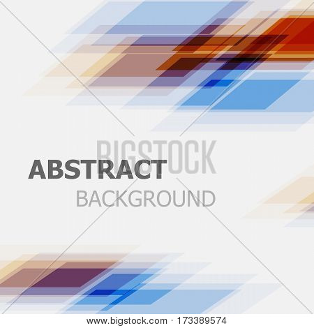 Abstract orange and blue business straight line background, stock vector