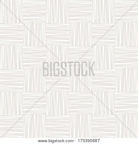 White and grey subtle woven geometric seamless pattern, vector background