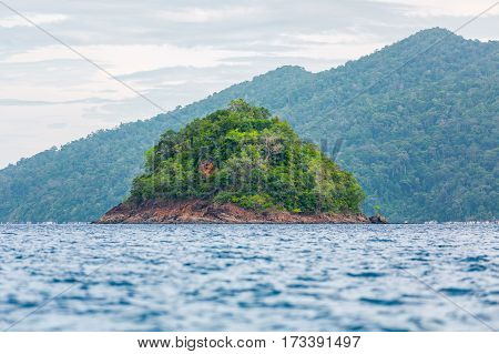 Small island on the sea Koh Lipe Thailand