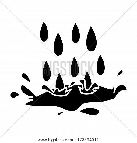 a simple flat black rain icon vector