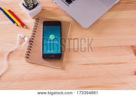 Chiang Mai,thailand - Jun 11, 2016 : Whatsapp App On The Screen