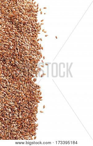 Flax seeds isolated on a white background