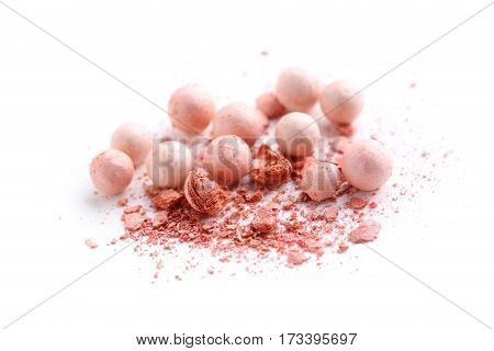 Makeup blush isolated on a white background