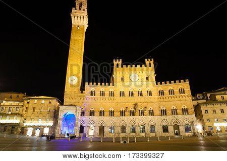 Siena Night View, Tuscany, Italy