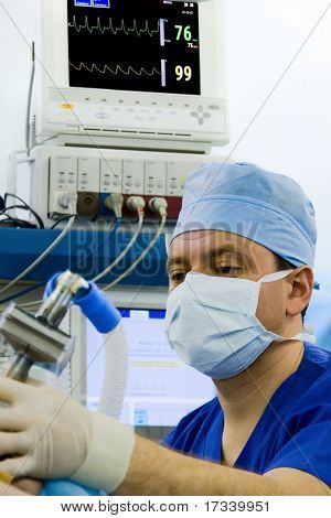 anesthetist working at this workplace in operation room