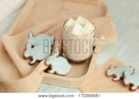 Homemade Easter Cookies On A Tray