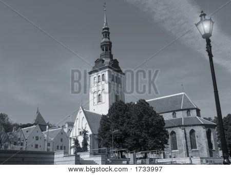 Niguliste Church In Tallinn Estonia