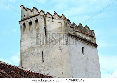 Fortified medieval saxon church Codlea, the largest in the Burzenland historic region, Transylvania, Romania