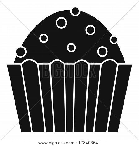 Cup cake icon. Simple illustration of cup cake vector icon for web