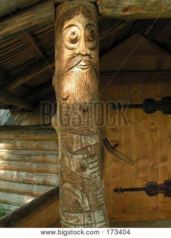 Carved Figure, Old Man (bandit)