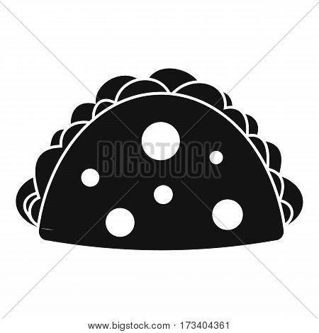 Empanada, cheburek or calzone icon. Simple illustration of empanada, cheburek or calzone vector icon for web