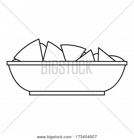 Nachos chips icon. Outline illustration of nachos chips vector icon for web