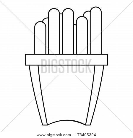 French fries icon. Outline illustration of french fries vector icon for web