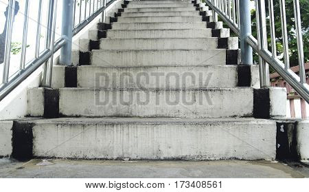 walkway stairs in the city and background photo