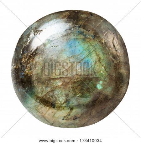 Polished Labradorite Gemstone Isolated