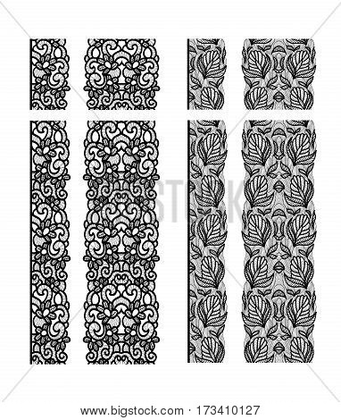 Abstract lace ribbon seamless pattern. Template line design. Lace Doily.. Can be used for decorating all kind of designs