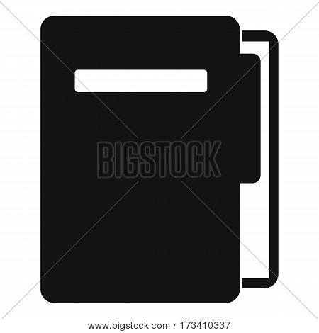 File folder icon. Simple illustration of file folder vector icon for web