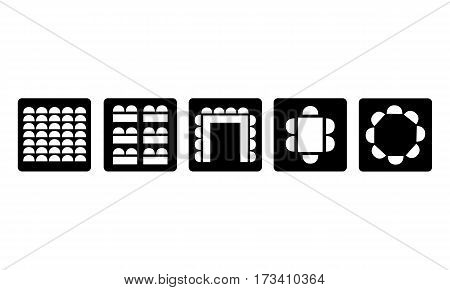 Pictogram - Room setup, Seating, Seats, - Object Icon Symbol